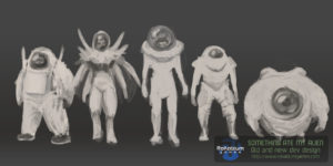 Aliens early concepts