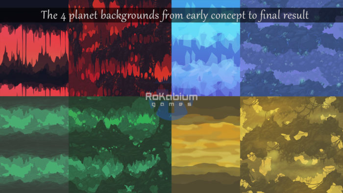 The cave backgrounds