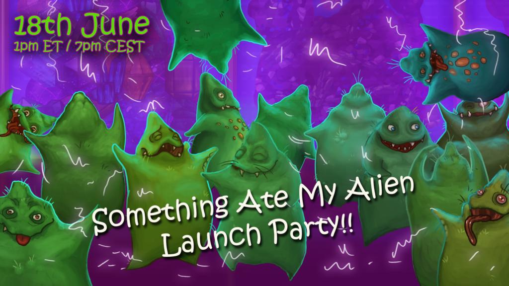 Alien celebrating launch day!